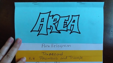 Thumbnail for entry Area of Kite and Rhombus