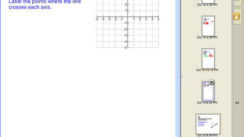 Thumbnail for entry Graphing a Linear Equation using Intercepts #4