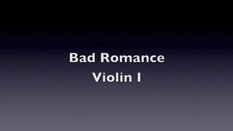 Thumbnail for entry Bad Romance Violin 1