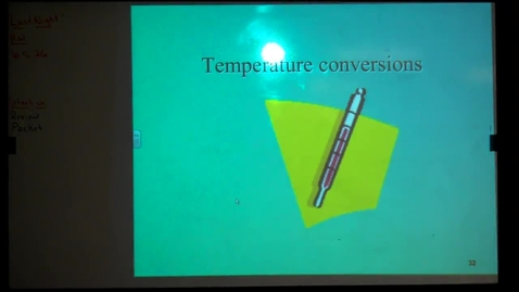 Thumbnail for entry Unit 5: Temperature Conversions March 28, 2013