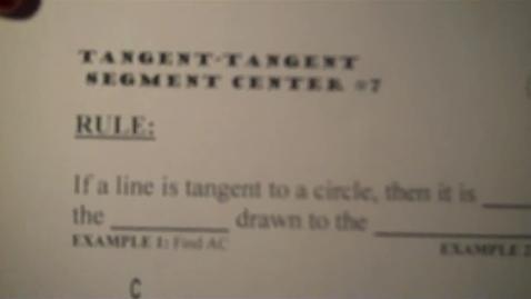 Thumbnail for entry Center 7 Tangent Tangent