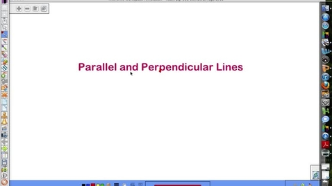 Thumbnail for entry Parallel and Perpendicular