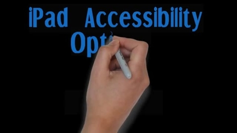 Thumbnail for entry iPad Accessibility: VoiceOver