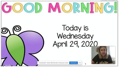 Thumbnail for entry Morning Meeting April 29