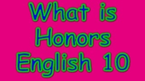 Thumbnail for entry Podcast Honor's English