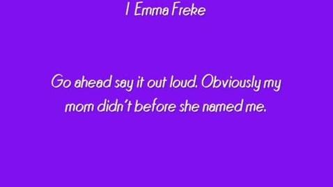 Thumbnail for entry I, Emma Freke by E.J. Atkinson