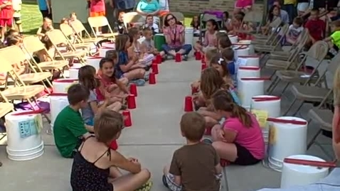 Thumbnail for entry 10:00 a.m. performance (part 3) of Bucket Drumming - Rock Ledge Summer School 2015