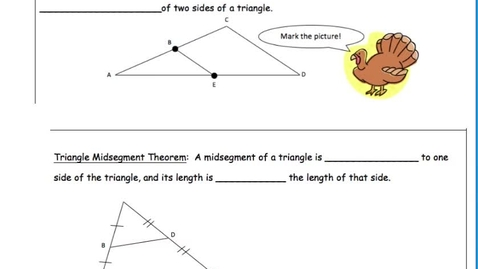 Thumbnail for entry 5.1 Triangle Midsegment