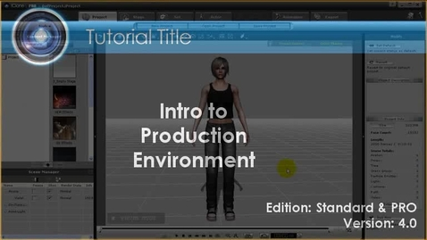 Thumbnail for entry iClone Tutorial - Production Environment
