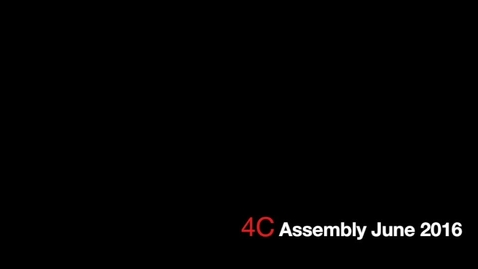 Thumbnail for entry 4C Assembly June 2016