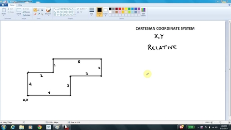 Thumbnail for entry AutoCAD LESSON 3C relative coordinates