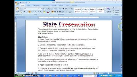 Thumbnail for entry PowerPoint State Presentation