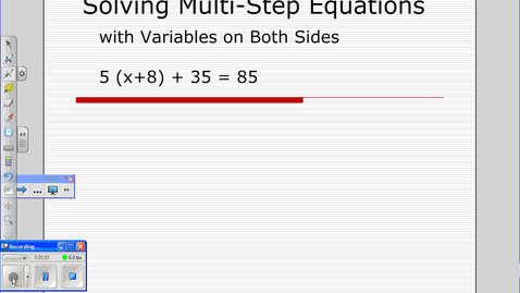 Thumbnail for entry Equations with Variables on both sides