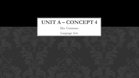 Thumbnail for entry Unit A - Concept 4
