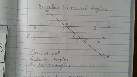 Thumbnail for entry Parallel Lines and Angles