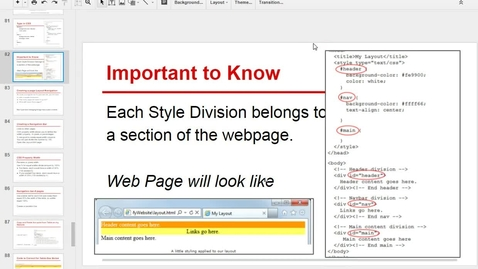 Thumbnail for entry Creating a Navigation Table with Links