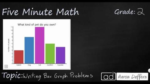 Thumbnail for entry 2nd Grade Math Writing Bar Graph Problems