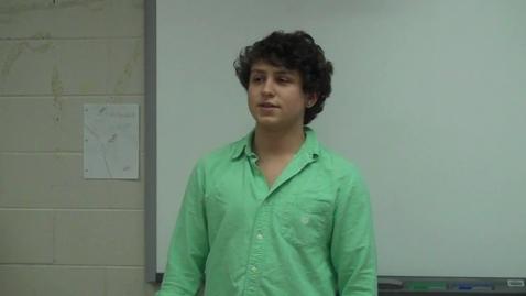 Thumbnail for entry Spring 2012 -- Motivational Speech -- Austin Lucas CHOKE -- Mr. Gilbert's class