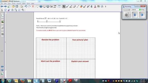 Thumbnail for entry Measuring Segments- Multi-step Algebra-Real world homework