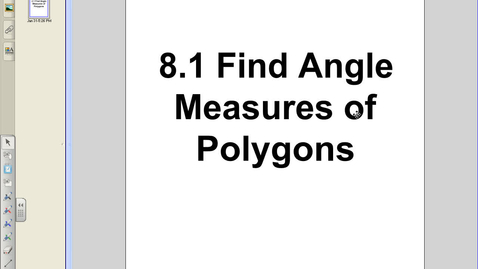 Thumbnail for entry 8.1 Angles of Polygons