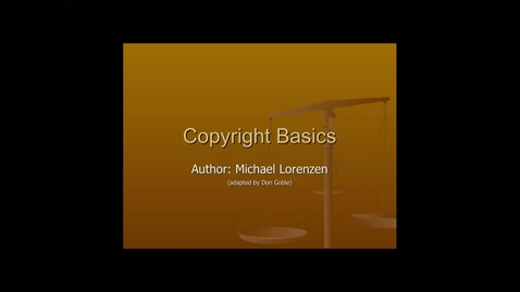 Thumbnail for entry Copyright Lesson & Instruction for Broadcast Technology 1
