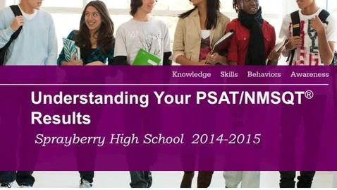 Thumbnail for entry Understanding your PSAT Results