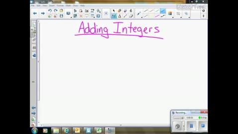 Thumbnail for entry Adding Integers