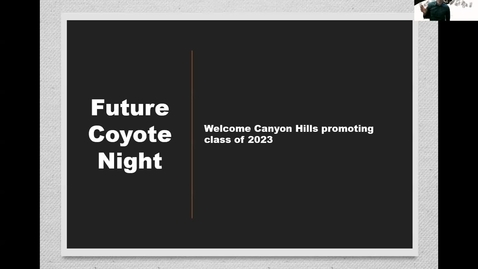 Thumbnail for entry Future Coyote Orientation 4-28-21