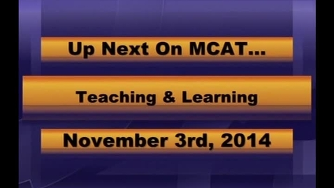 Thumbnail for entry MCPS Teaching and Learning Nov 3 2014