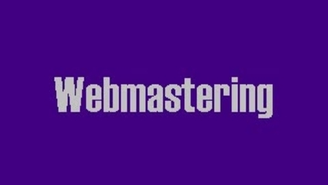 Thumbnail for entry Webmaster (1)