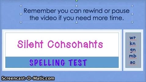 Thumbnail for entry 4.1- Silent Consonants
