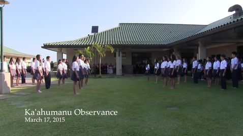 Thumbnail for entry Queen Ka'ahumanu Observance-2015