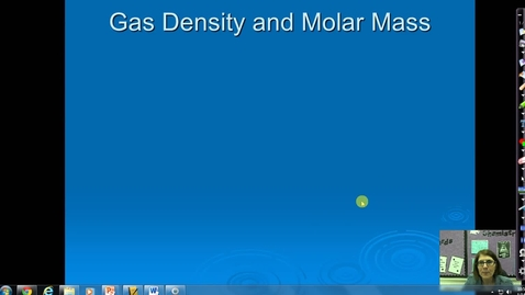 Thumbnail for entry Unit 5 Gas Density and Molar Mass