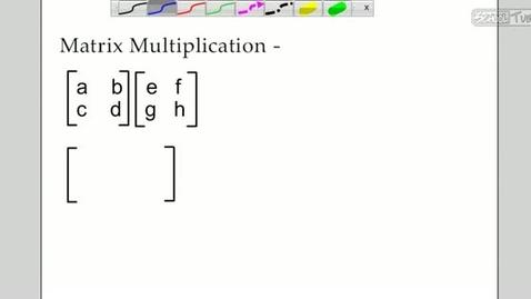 Thumbnail for entry Matrix Multiplication