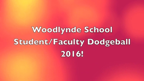 Thumbnail for entry Student / Faculty Dodgeball Competition 2016