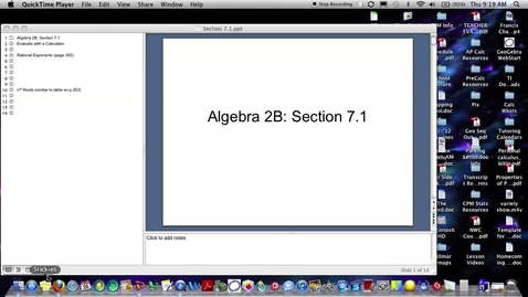 Thumbnail for entry Algebra 2B Section 7.1 (PART 1)