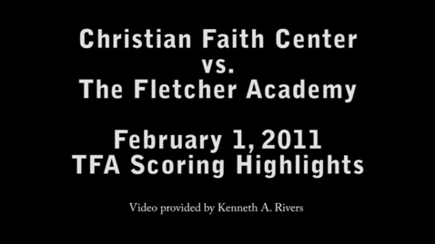 Thumbnail for entry TFA Scoring Highlights - Game 8