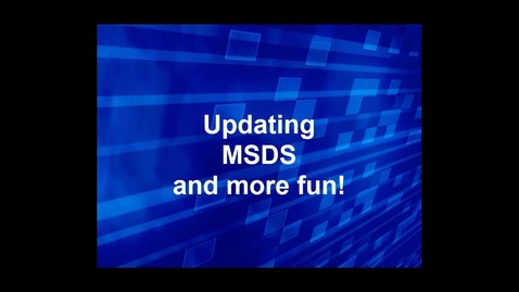 Thumbnail for entry MSDS How to