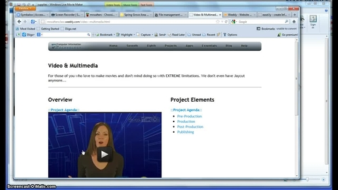 Thumbnail for entry Video Production Notes & Thoughts Part 1