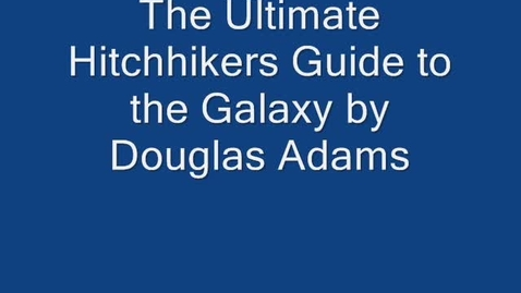 Thumbnail for entry The Ultimate Hitchhiker's Guide to the Galaxy Book Review