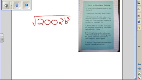 Thumbnail for entry Simplifying Radicals example 15