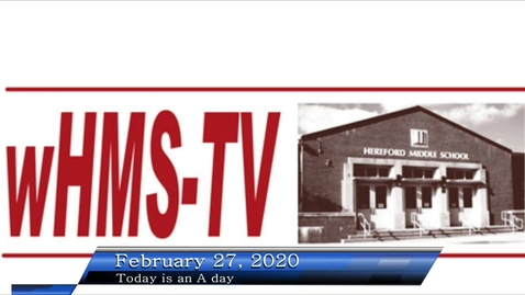 Thumbnail for entry WHMS Morning Show Feb 27, 2020
