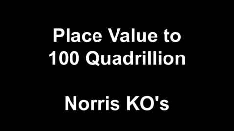Thumbnail for entry Knockout Place Value to 100 Quadrillion!!
