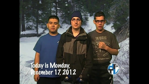 Thumbnail for entry Monday, December 17, 2012
