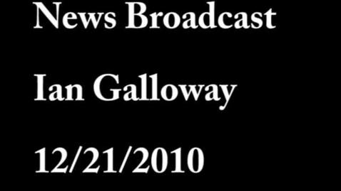 Thumbnail for entry Ian Galloway news broadcast