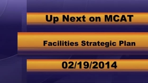 Thumbnail for entry MCPS Region #1 Facilities Meeting 02-19-2014