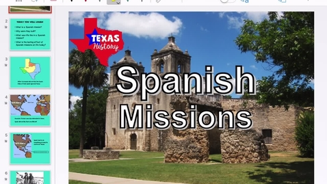 Thumbnail for entry Spanish Missions in Texas PPT