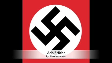 Thumbnail for entry Adolf Hitler and To Kill a Mockingbird By: Cameron Martin