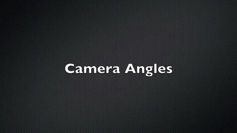Thumbnail for entry camera shots and angles