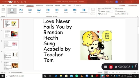 Thumbnail for entry Love Never Fails You Acapella by T. Tom